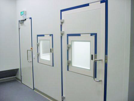Interlock control system clean room installation with 40 doors