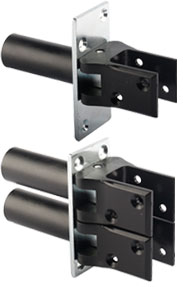 Swing door hinge black